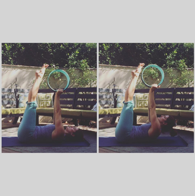 Strong Core with Double Straight Leg Reach and Yoga Wheel